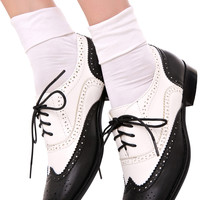 Wanted Two-Tone Oxford Black/White