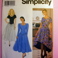 Special Occasion Dress, Evening Wear, Misses' Size 6, 8, 10, 12 Simplicity 8820 Sewing Pattern Uncut