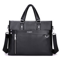 2016 New arrival business briefcase portfolios man bag luxury brand men laptop bag  leather handbag shoulder bags black