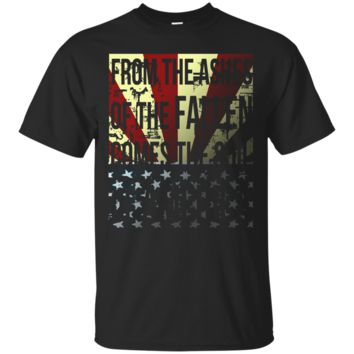 Moving Patriotic American Flag Veterens Day T Shirt