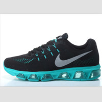 NIKE fashion knitted casual shoes sports running shoes Black blue