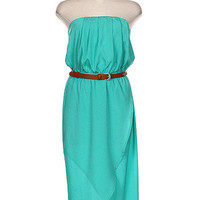 Escape to Napa High Low Dress - Turquoise -  $52.00 | Daily Chic Dresses | International Shipping