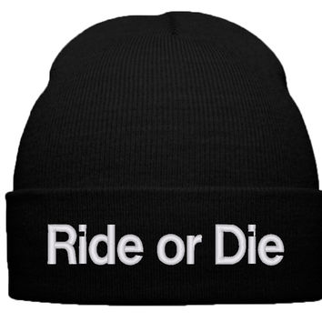 ride or die BEANIE WINTER HAT