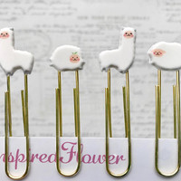 Llama Paper Clips, Llama Planner Clips, Sheep Paper Clips, Planner Clips, Decorative Paper Clips, Llama Gifts, Llama Decor, Sheep Clips