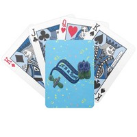 It's a Boy Pacifier Shoes Bicycle Playing Cards