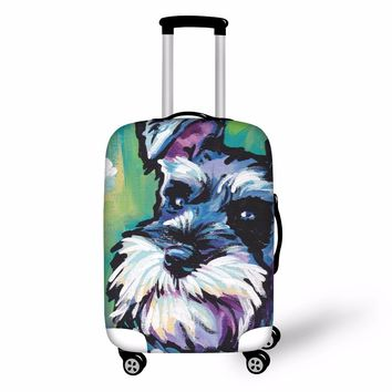 FORUDESIGNS 3D Dog Graffiti Luggage Protective Cover Waterproof Elastic Travel Suitcase Case Covers Animal Prints Trolley Covers