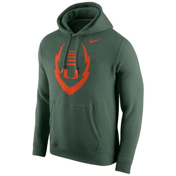 Miami Hurricanes Nike Icon Club Hoodie – Green