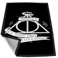 Deathly Hallows Harry Potter 4032223e-337e-4b2a-a1fb-de0ca3bf39c5 for Kids Blanket, Fleece Blanket Cute and Awesome Blanket for your bedding, Blanket fleece *02*