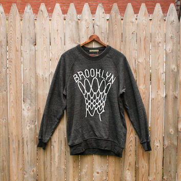 Brooklyn Basketball crew sweatshirt by HeadHoods on Etsy