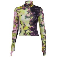 DAISY Ladies Tie Dye High Neck Top
