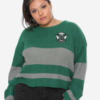Harry Potter Slytherin Girls Quidditch Sweater Plus Size