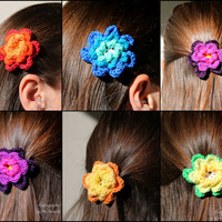 Hair Clip, Hair Barette, flower, any colour, handmade hair accessory, for her and for kids, bridal accessory