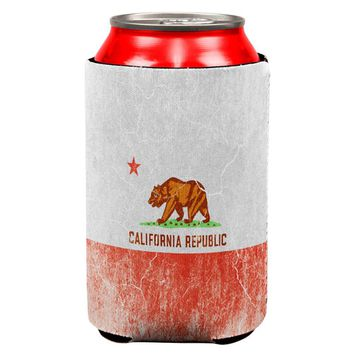 California Vintage Distressed State Flag All Over Can Cooler