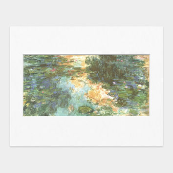 Monet: Water Lilies, Matted Print