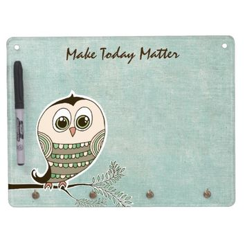Owl with Quote Affirmation Dry Erase Whiteboard