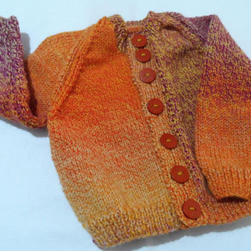 Hand Knitted Baby Cardigan - Handmade Wool  Baby Knit - New Born Baby - Knitted Baby Jacket - Woollen Baby Top - Baby Coat