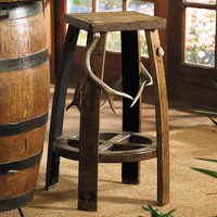 Antler & Barrel Bar Stool