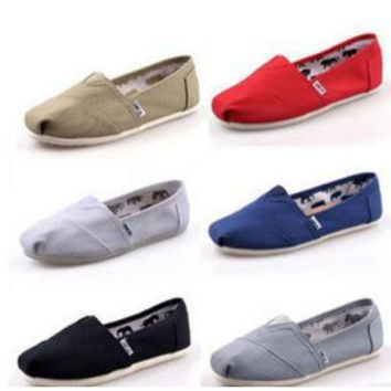 AUTHENTIC WOMEN'S TOMS CLASSIC CANVAS SHOES 35-45