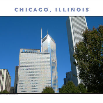Architectural Geometry in Chicago on Fall Afternoon New Photo Wall Art #981