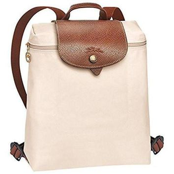 PEAPGE2 Beauty Ticks Longchamp Le Pliages Backpack Ivory