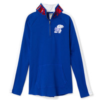 University of Kansas Bling Half-Zip Tunic - PINK - Victoria's Secret