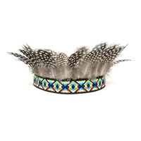 Feather Crown, Festival Clothing, Hippie Headband, Coachella, Feather Headband, Fascinator Crown, Birthday Party Crown, Adult, Kids, Baby