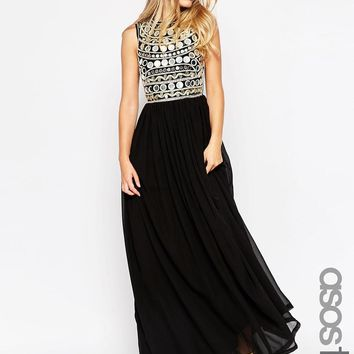 ASOS Tall | ASOS TALL Mirror Bodice Maxi Dress at ASOS