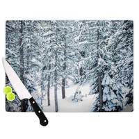 "Juan Paolo ""Winter Trials"" White Snow Cutting Board"