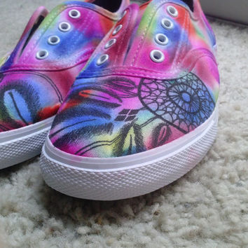738245bca6f1 Customized Vans shoes. Any color or tie dye.
