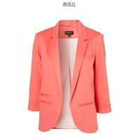 Long Sleeve Notched Collar Blazers
