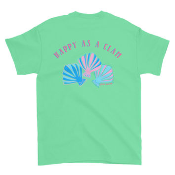 """Happy as a Clam"" T-shirt"