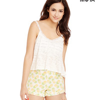 Aeropostale  Womens Sheer Swing Back Cropped Camisole