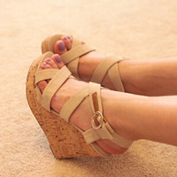 Platform high heeled women sandals wedges summer single shoes woman open toe sandal slippers
