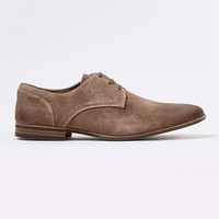Tan Brushed Suede Derby Shoes - New This Week - New In