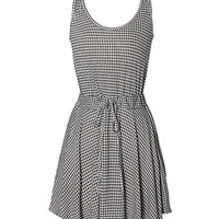 'The Columbine' Houndstooth Patterned Sleeveless  Dress