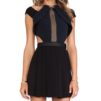 self-portrait Chained-Up Dress in Black