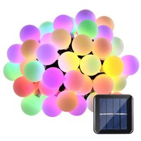 Solar Globe 50 LED Ball String Lights Solar Powered Christmas Light Patio Lights Lighting for Home Garden Lawn Party Decorations