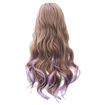 Soowee 13 Colors Brown To Pink Women Hair Ombre High Temperature Fiber Wigs Synthetic Hair Cosplay Wig Perruque Cheveux Peruca