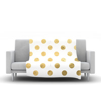 "KESS Original ""Scattered Gold"" Fleece Throw Blanket"