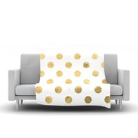 "KESS Original ""Scattered Gold"" Metallic Fleece Throw Blanket"