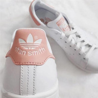 """stan smith"" Fashion Shell-toe Flats Sneakers Sport Shoes Hight Qualith Pink"