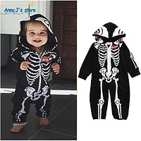 Baby Boy Clothes cool printing Newborn Baby Children's hood With Long Sleeve Baby Costumes
