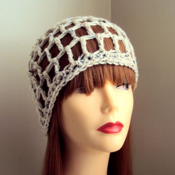 Crochet Hat  Spring Summer Beanie Oatmeal Festival Hat Women Men Hair Accessories Mother's Day Gift
