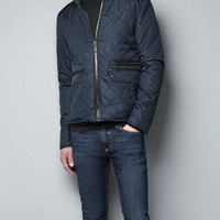 JACKET WITH FAUX LEATHER TRIM - Man - New this week - ZARA United States