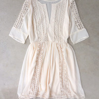 Crochet Ivory Paths Dress [7504] - $35.20 : Feminine, Bohemian, & Vintage Inspired Clothing at Affordable Prices, deloom