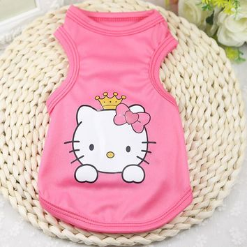 11 Styles Summer Cool Puppy Vest Clothing Cute Pet Dog Clothes Cotton Soft T-shirt Clothes for Small Dog Cat Pet Coat XS-2XL