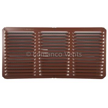 "Lomanco® C816BR C-Series Under Eave Cornice Vent, 8"" x 16"", Brown"
