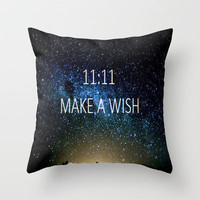MAKE A WISH Throw Pillow by Sjaefashion | Society6