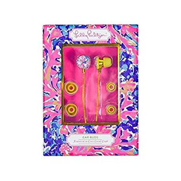 Lilly Pulitzer Earbuds - Coco Coral Crab