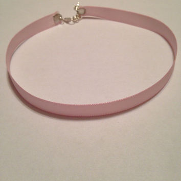 Light Pink Satin Adjustable Choker